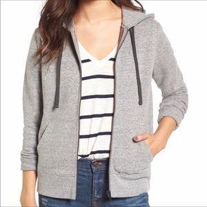 Madewell Grey Messenger Hoodie Sweatshirt Top